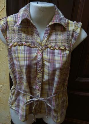 Рубашка denim co 100%cotton