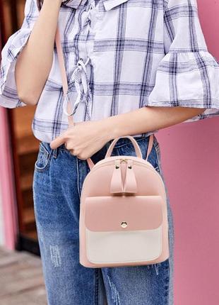 Милые мини рюкзачки городские женские фото вживую новые распродажа