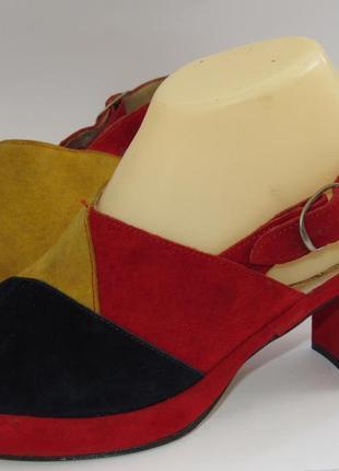 Dorndorf modell шикарные замшевые яркие туфли 37р-ст.23.5 a6