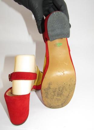Dorndorf modell шикарные замшевые яркие туфли 37р-ст.23.5 a66 фото