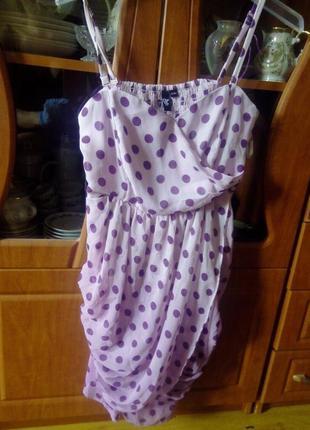 Платье в горохи