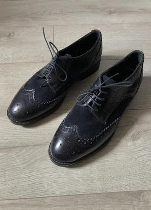 Кожаные туфли броги roberto santi - 39