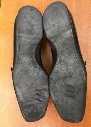 Отличные туфли,броги,оксфорды,макасины prada черные кожаные р.40.5 original5 фото