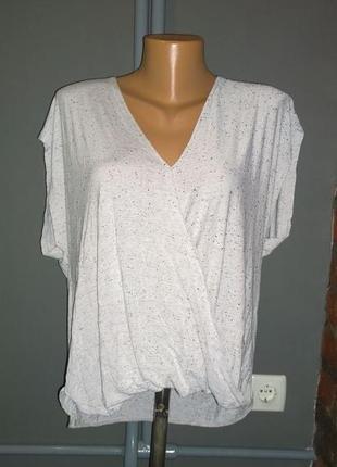 Свободная блуза топ кофточка с драпировкой из трикотажа new look