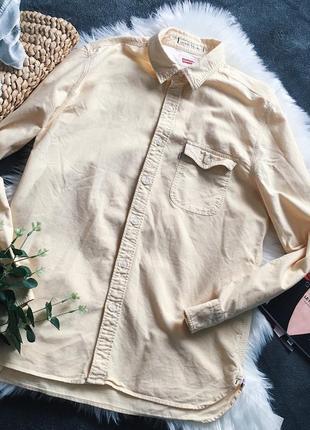 Рубашка джинсовая жёлтая оверсайз levis