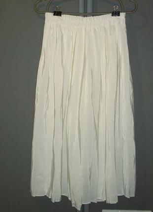 Плиссированная юбка миди2 фото