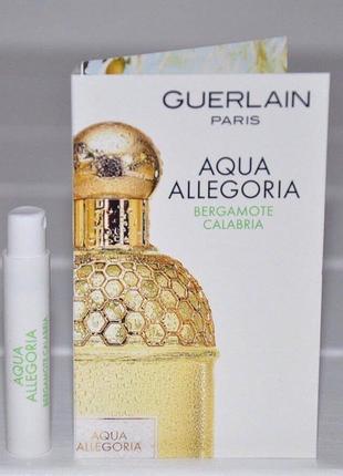 Пробник aqua allegoria bergamote calabria guerlain