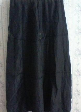 Щелковая юбка, шелк 100%, от noa noa, в стиле бохо, в пол, разм. 48