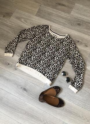 Леопардовый свитшот кофта с актуальным леопардовым принтом
