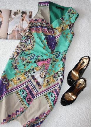 Красивое стильное платье с запахом