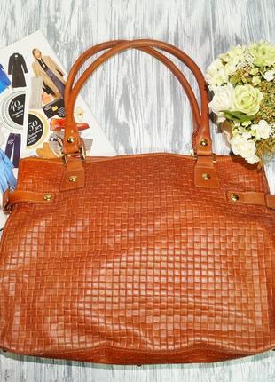 Artigiano. италия. кожа. вместительная сумка