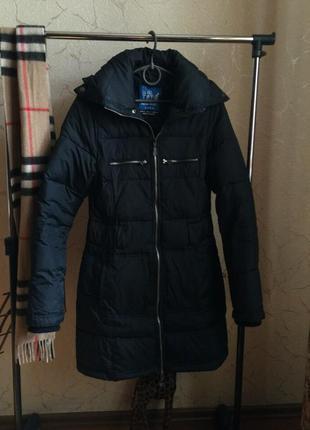 Куртка пуховик плащ zara на пуху (перо) зимний