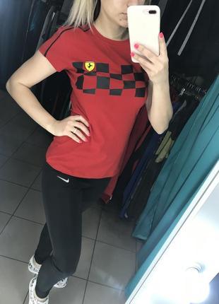 Женская футболка puma ferrari