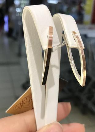 Серебряные серьги с золотом. с золотой напайкой накладкой стрелы
