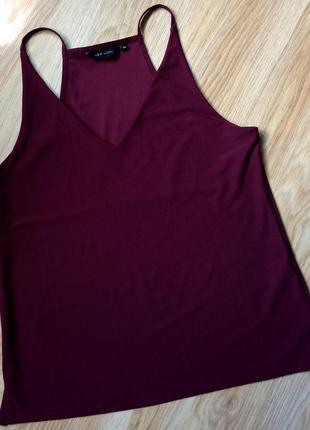 Блузка маечка цвета марсала new look