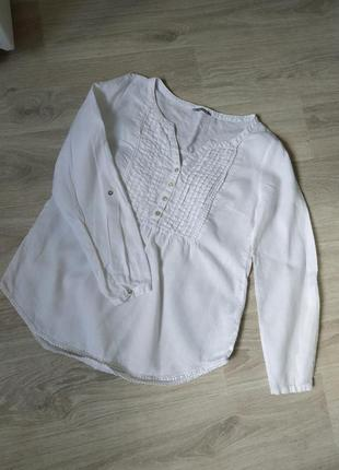 Женская белая рубашка, женская льняная рубашка,белоснежная рубашка на лето
