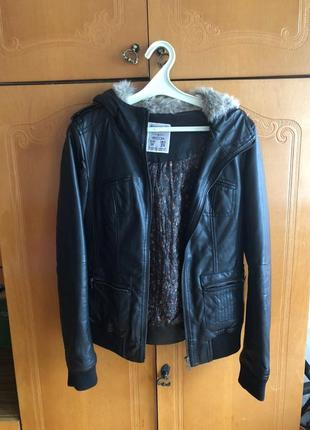 Куртка кожзам pull&bear, размер m