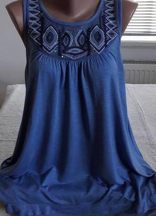Фирменная блуза,  цвета незабудки.46-48