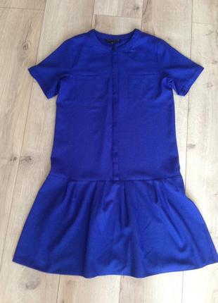 Модное платье цвет электрик!!!