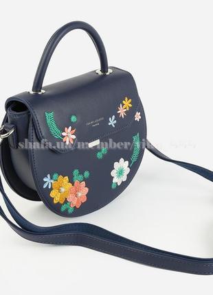 Полукруглый клатч, сумка через плечо david jones 5971-1 темно-синий