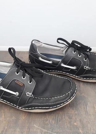 Кожаные туфли макосины bama