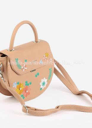97b0907ac684 Полукруглый клатч, сумка через плечо david jones 5971-1 розовый/бежевый
