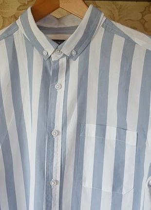 Моднейшая хлопковая рубашка в полоску primark