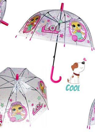 """Детский зонт от mario """"lol"""" прозрачный, 018"""