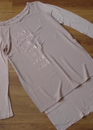 Удлиненная футболка, р.s-m