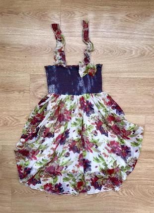 Супер платье , цветочный принт