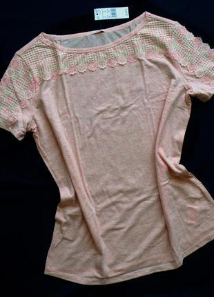 Натуральный пижамный топ intimissimi размер m с кружевом