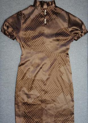 Платье атласное в ретро стиле