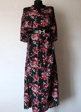 Платье в пол classics 100% вискоза