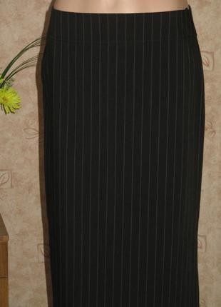 Черная длинная узкая юбка