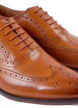 Туфли коричневые кожаные ample 45 295мм