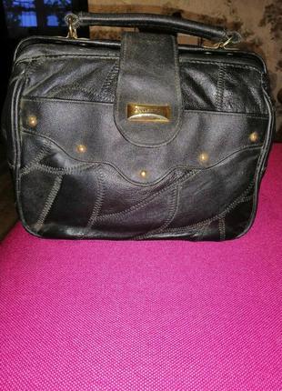 Кожаная сумочка барсетка