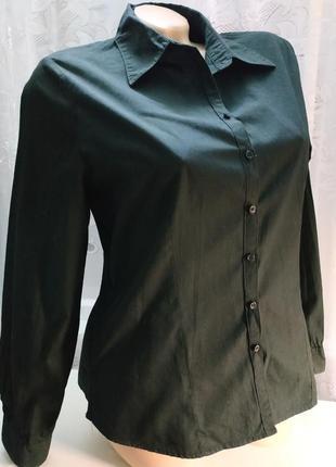 Рубашка черная хлопок