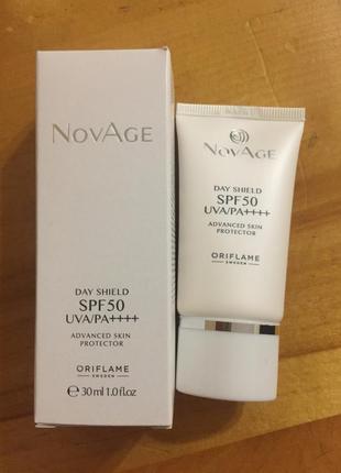 Мультифункциональный защитный крем для лица spf 50 oriflame novage