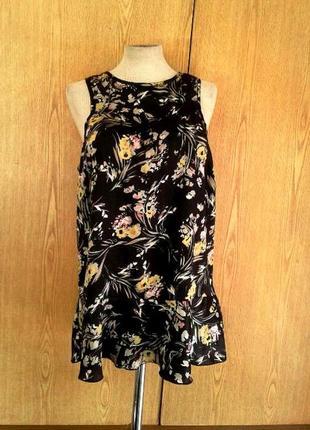 Шелковое платье - туника, xl.