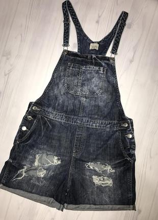 Трендовый  джинсовый комбенизон