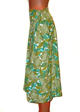 Замечательная летняя юбка большого размера лен/вискоза