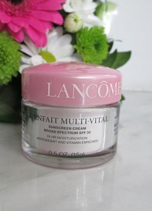 Увлажняющий флюид на лето lancome bienfait multi-vital spf 30