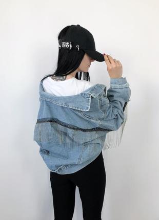 Джинсовка винтаж оверсайз летучая мышь джинсовый пиджак