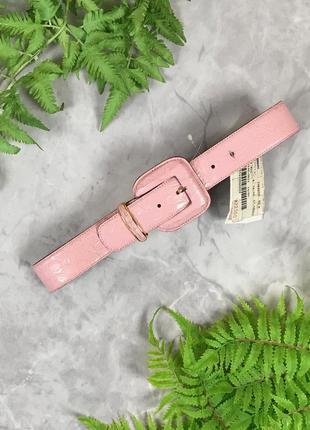 Нежный пояс в розовой цвете с натуральной кожи  ac1921145 max mara