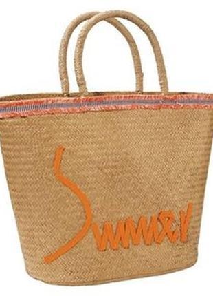 Большая пляжная сумка из соломы...германия.1 фото