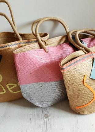 Большая пляжная сумка из соломы...германия...супер цена🤩5 фото
