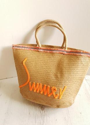 Большая пляжная сумка из соломы...германия.6 фото