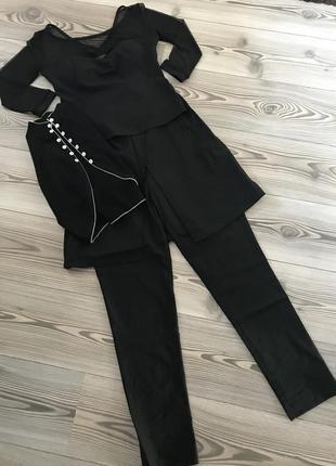 Костюм тройка юбка брюки, топ и болеро