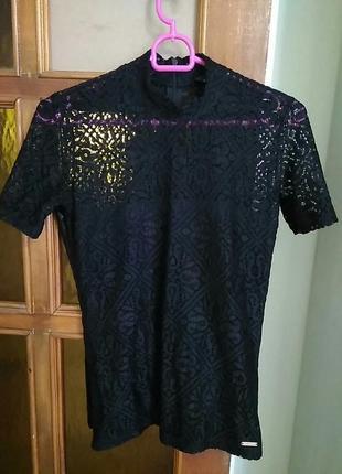 Блуза, футболка кружево.