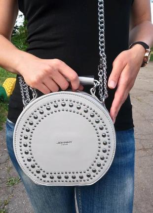 Круглая сумочка на цепочке
